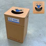 Vuilbak Papier Smile 37x37x60cm karton