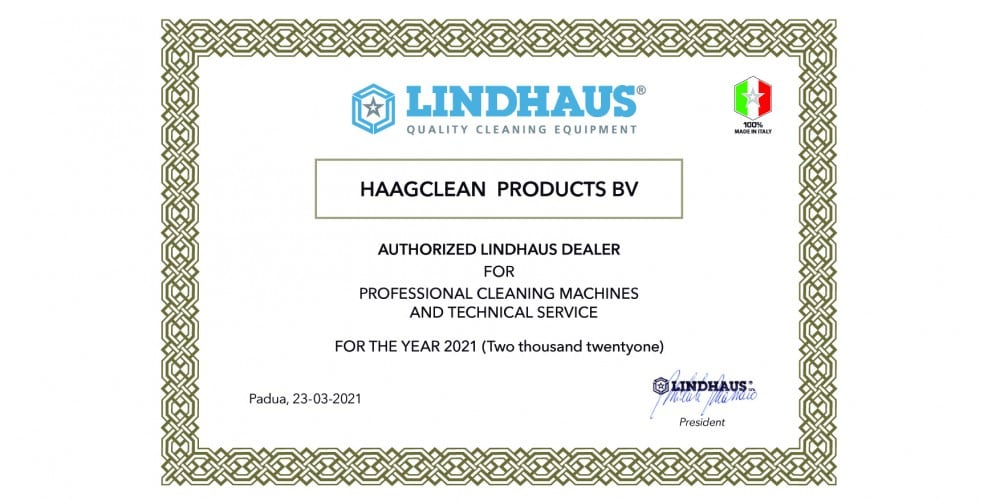 Haagclean is Authorized Lindhaus Dealer!
