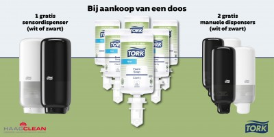 Nieuwe zeep van Tork met dispenseractie
